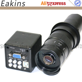 2.0MP 180x HD Dijital Sanayi Mikroskop Kamera VGA USB AV TV Video Çıkışı + C-MOUNT zoom Lens