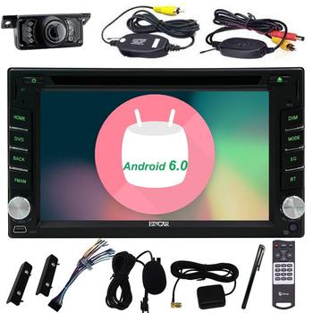 Android 6.0 Din Araba autoradio dvd Stereo Araba GPS DVD Player Dash Navigasyon Araç Radyo Ses WiFi 1080 P Video + Yedekleme kamera